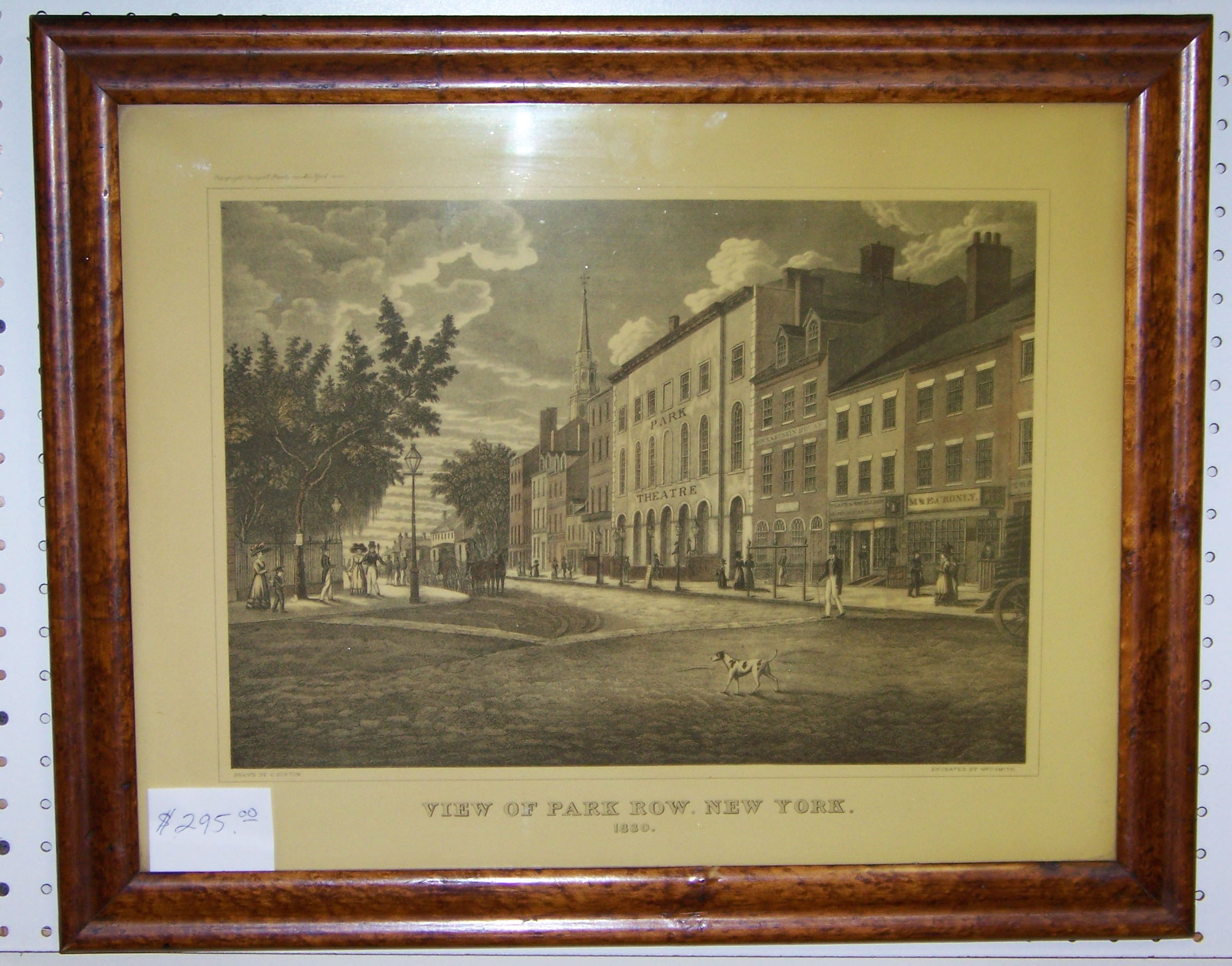 PARK ROW NEW YORK 1830