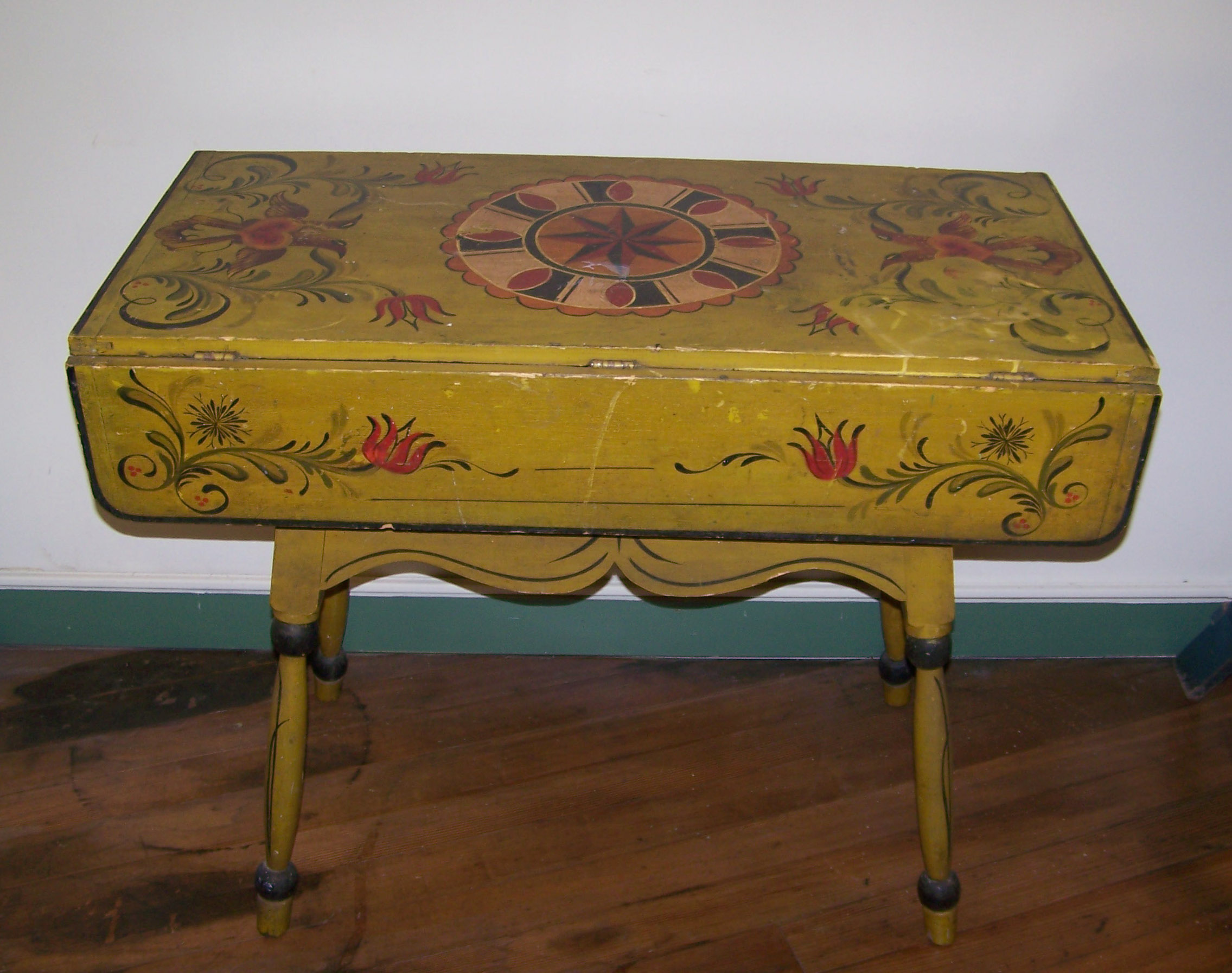 PA DUTCH DOUGH BOX TABLE